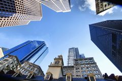 Distretto finanziario di Boston Fotografie Stock Libere da Diritti