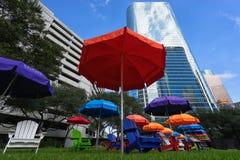 Distretto finanziario di Houston immagine stock libera da diritti