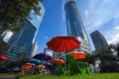 Distretto finanziario di Houston fotografie stock