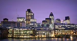 Distretto finanziario di Londra Fotografia Stock Libera da Diritti