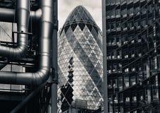 Distretto finanziario di Londra Fotografie Stock Libere da Diritti