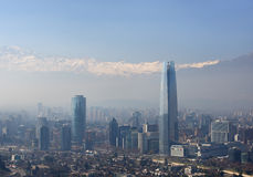 Distretto finanziario di Santiago de Chile, capitale del Cile. fotografie stock libere da diritti