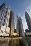 Distretto finanziario, Singapore Fotografie Stock