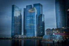 Distretto finanziario Singapore Fotografia Stock