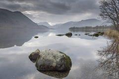 Distretto inglese Cumbria del lago Ullswater Immagine Stock