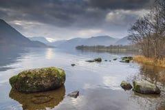 Distretto inglese Cumbria del lago Ullswater Fotografie Stock