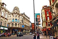 Distretto Londra Regno Unito dei teatri del viale di Shaftesbury fotografia stock libera da diritti
