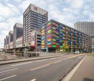Distretto moderno vicino alla stazione ferroviaria di Lille Europa Fotografia Stock Libera da Diritti