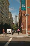 Distretto New York della via DUMBO di Washington Fotografia Stock Libera da Diritti