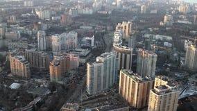 Distretto residenziale di sviluppo moderno sulla costa Odessa, Ucraina di Mar Nero, gennaio 2019 archivi video
