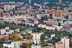 Distretto residenziale urbano moderno in autunno Fotografia Stock Libera da Diritti