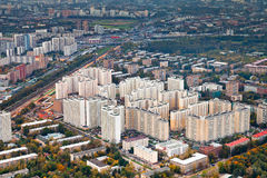 Distretto residenziale urbano moderno in giorno di autunno Fotografie Stock