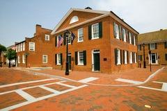 Distretto storico di Charlottesville, la Virginia, casa di presidente Thomas Jefferson immagini stock libere da diritti