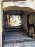 Distretto storico di Gaeta nella regione del Lazio in Italia centrale fotografie stock libere da diritti