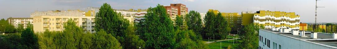 Distretto suburbano Fotografie Stock