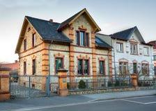Distretto suburbano europeo Fotografia Stock Libera da Diritti