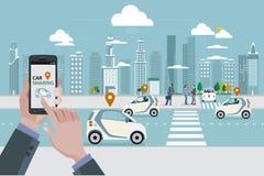 Distribución de coche libre illustration