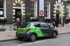 Distribución de coche - Zipcar Fotos de archivo libres de regalías