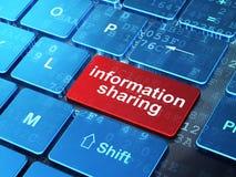 Distribución de información en el teclado de ordenador Imagen de archivo