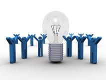 Distribución de una idea que gana Imagen de archivo libre de regalías