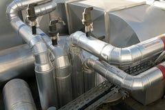 Distribución del acondicionador de aire y de la ventilación Imágenes de archivo libres de regalías