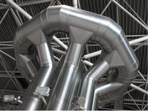 Distribución del acondicionador de aire y de la ventilación Fotografía de archivo libre de regalías