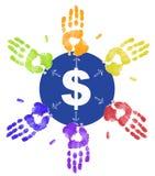 Distribución del dinero ilustración del vector