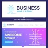 Distribución hermosa de la marca del concepto del negocio, rejilla, infras stock de ilustración