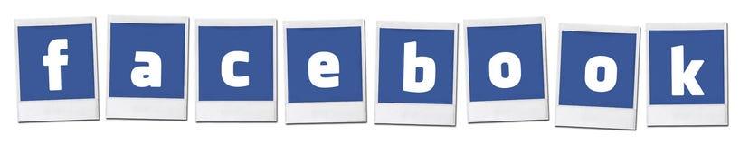 Distribución social de Facebook medios foto de archivo