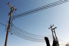Distribuição da corrente elétrica em Sifnos Ilhas de Cyclades, Grécia foto de stock