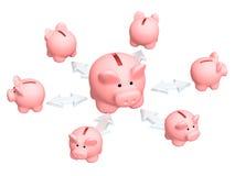 Distribuição das finanças ilustração royalty free