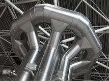 Distribuição do condicionador de ar e da ventilação Fotografia de Stock Royalty Free