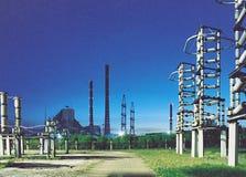 Distribuição do dispositivo da eletricidade. Imagens de Stock Royalty Free