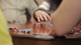 Distribuição do pôquer dos cartões filme