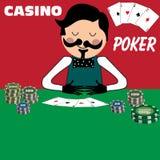 Distribuidor autorizado del póker stock de ilustración