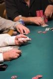 Distribuidor autorizado del póker del casino Fotografía de archivo