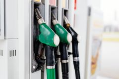 Distribuidor da gasolina e do diesel imagem de stock