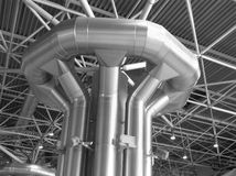 Distribuição do condicionamento de ar e da ventilação Imagem de Stock