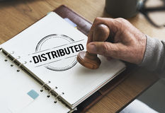 Distributed Dealing Arrangement Spread Supply Concept royalty free stock photography