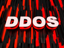 Distributed denial-of-service (DDoS) attack Royalty Free Stock Image
