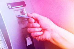 Distributeur automatique de billets d'atmosphère Photos stock