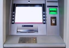 Distributeur automatique de billets extérieur d'atmosphère images libres de droits