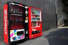 Distributeur automatique de deux coca-cola Photographie stock libre de droits