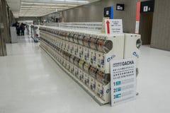 Distributeur automatique japonais de jouet de capsule Gachapon Photographie stock