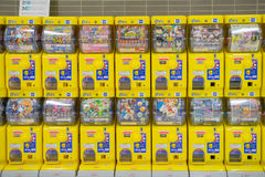 Distributeur automatique japonais de jouet de capsule Gachapon Photo stock
