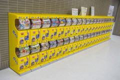 Distributeur automatique japonais de jouet de capsule Gachapon Image stock