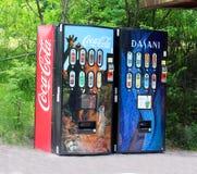 Distributeurs automatiques de boisson non alcoolisée Photographie stock