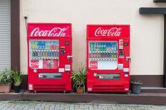 Distributeurs automatiques de diverses sociétés à Tokyo Images libres de droits