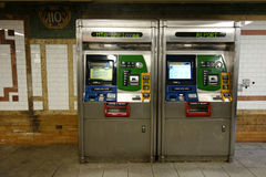 Distributeurs automatiques de Metrocard Photographie stock
