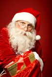 Distributing gifts Royalty Free Stock Photography